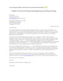 sample cover letter for summer internship energy and