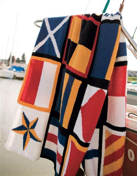 nautical blanket knitting pattern nautical blanket pattern knitting patterns and crochet