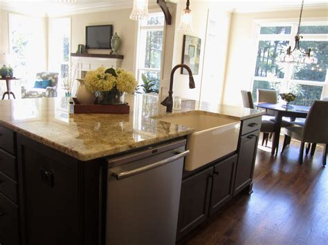 sink island kitchen kitchen islands with sink and dishwasher gl kitchen design