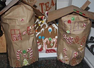 paper bag gingerbread house craft 1000 images about preschool programs on moon
