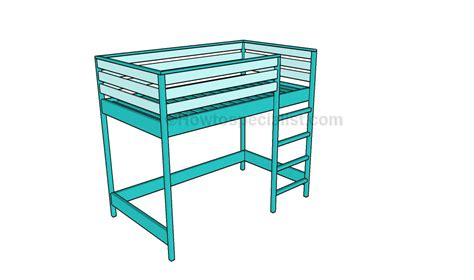 how to build a loft bunk bed bunk bed plans howtospecialist how to build