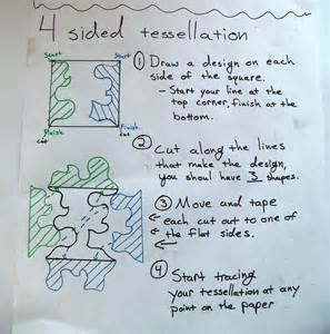 how to make a tessellation with an index card tessellation history puzzle tessellation template