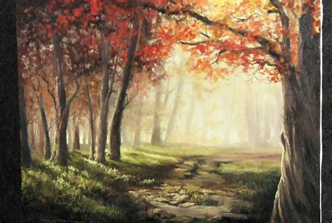 acrylic painting kevin autumn sunlight paint with kevin hill