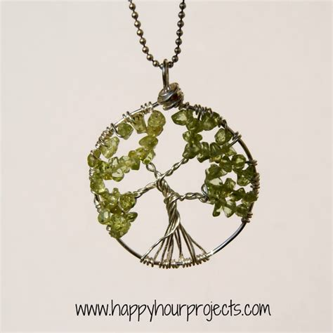 how to make a jewelry tree wire wrapped tree necklace seven alive