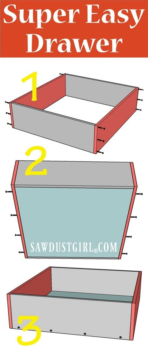 how to build a cabinet drawer how to build a cabinet drawer the easiest way possible