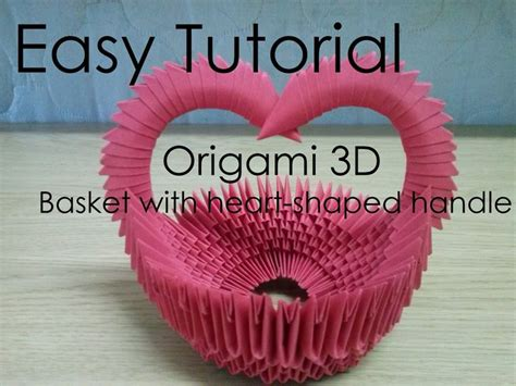 origami basket with handle 1000 images about 3d origami on vase
