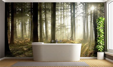 forest wall murals forest at dusk wall mural forest wallpaper
