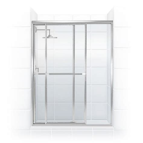 sliding shower doors home depot coastal shower doors paragon series 42 in x 66 in framed