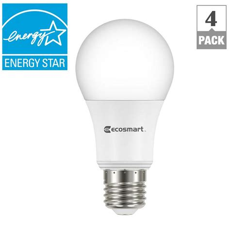 review led light bulbs ecosmart 60w equivalent daylight a19 energy