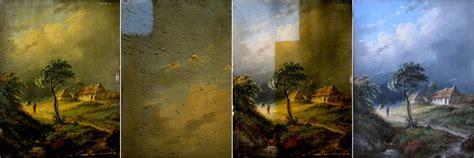 acrylic painting restoration restoration restoration and