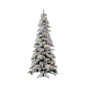 9 ft slim flocked tree shop vickerman 8 ft pre lit spruce flocked slim artificial
