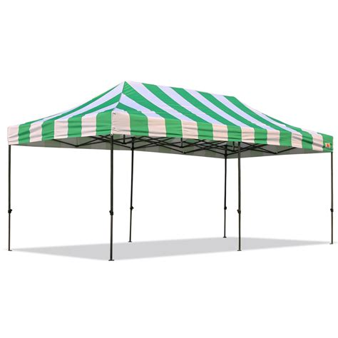 I Canopy by Abccanopy Carnival 10x20 Green And White Pop Up Canopy