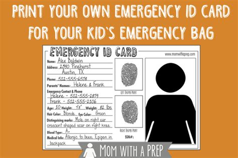 make your own id card for free free printable child id card template infocard co