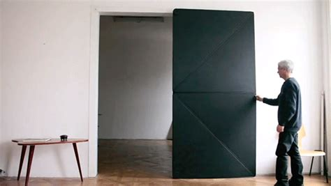 origami door ingenious door opens and closes like folded paper colossal