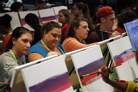paint nite toledo social painting grows popular at bars studios
