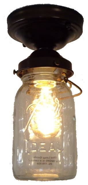 jar ceiling lights jar ceiling light vintage quart single