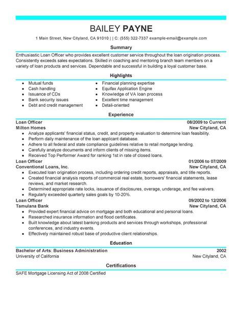 loan officer resume examples finance resume samples