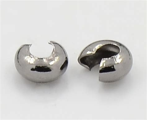 crimp bead covers 4mm crimp bead covers gunmetal golden age