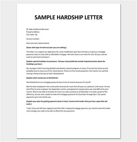 Modification Letter by Hardship Letter For Loan Modification Pdf Sle