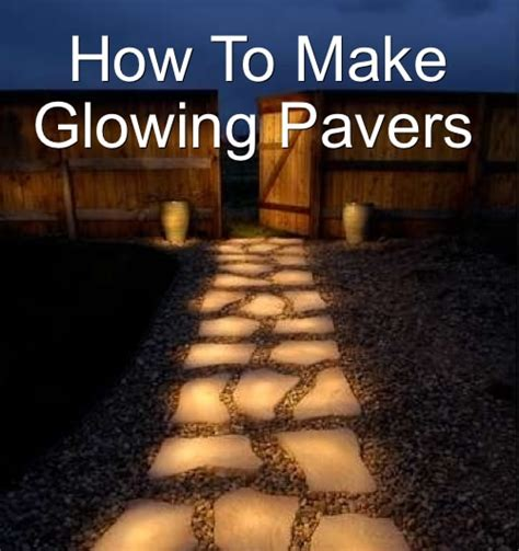 glow in the paint driveway how to make glow in the pavers or pathway homestead