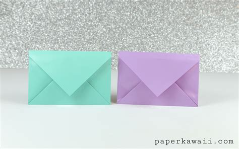 origami paper size template simple origami envelope tutorial paper kawaii