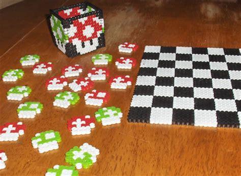 cool perler mario perler checkers set