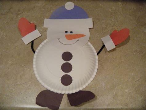 snowman paper plate craft paper plate snowman kindergarten