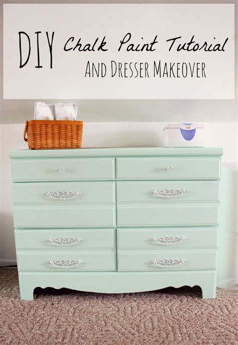 does diy chalk paint work diy chalk paint recipe and dresser makeover the definery co