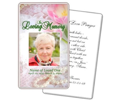 how to make a funeral memorial card 8 best images of free printable memorial prayer cards