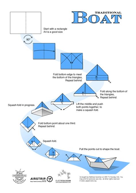 origami boat printable following directions origami rhoades language