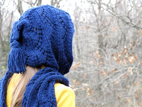 hooded shawl knitting pattern stylish hooded scarf free knitting pattern