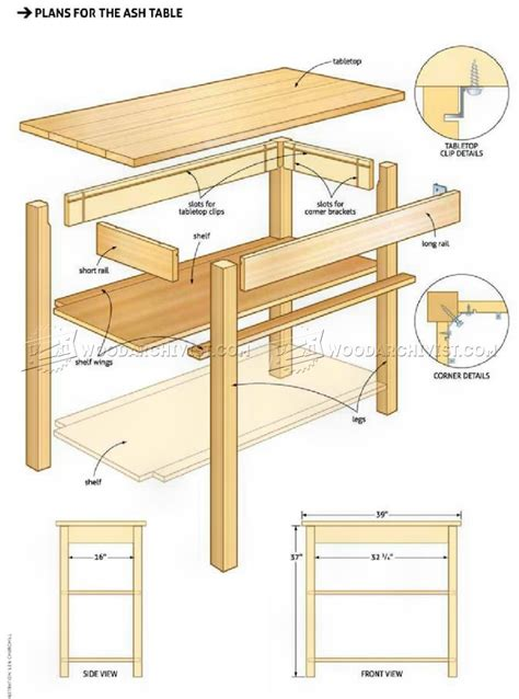 woodworking with ash ash table plans woodarchivist