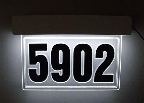 lighted address sign solar edge lit led lighted address sign led house number
