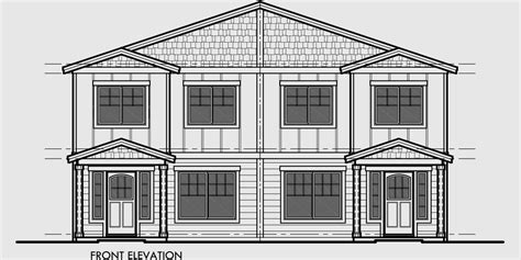 duplex plans for narrow lots duplex house plan with rear garage narrow lot townhouse plan