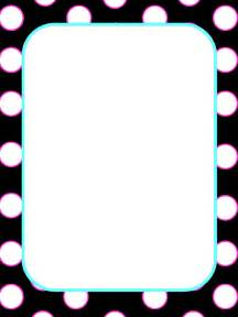polka dot borders and frames clipart