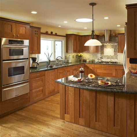 style kitchen lighting light cherry cabinets kitchen pictures