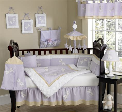 purple nursery bedding sets unique discount purple dragonfly baby designer crib