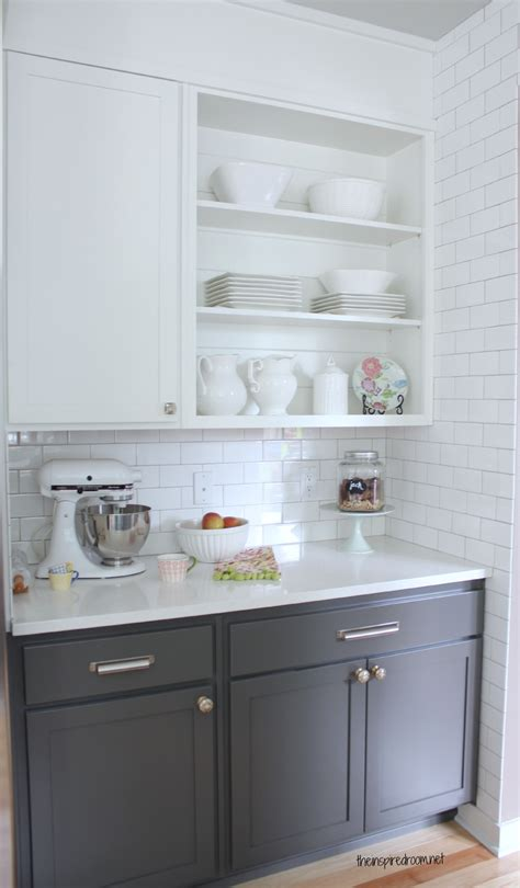 grey and white kitchen cabinets kitchen cabinet colors before after the inspired room