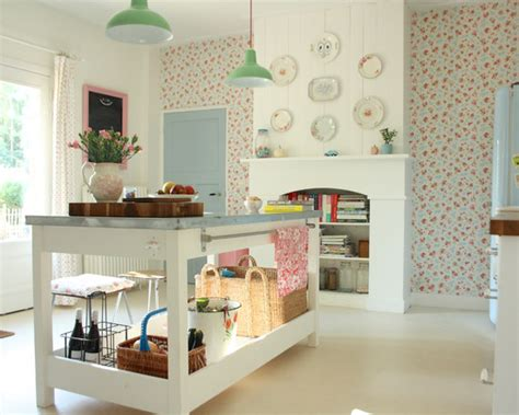 shabby chic kitchen wallpaper save email