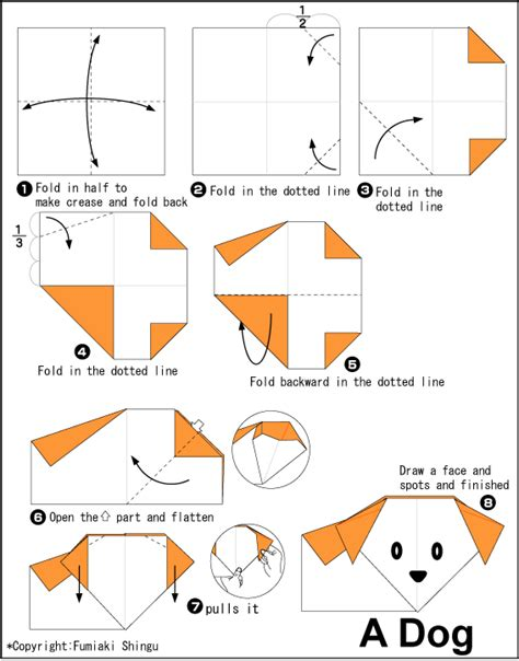 how to make origami dogs origami a easy origami for