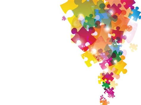 colorful puzzles powerpoint background is a good choice