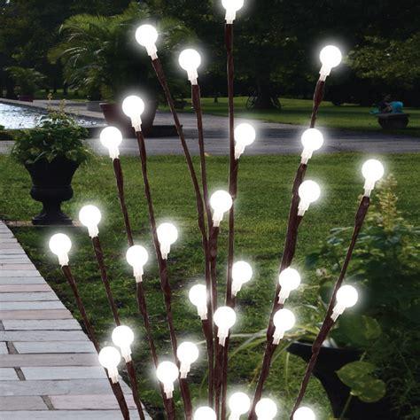 solar tree lights 2 x 60 cm jardin brindille lights solar tree feux