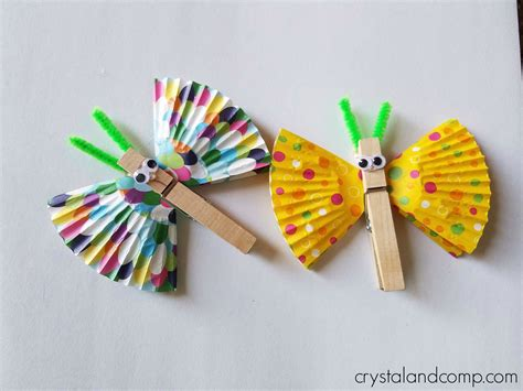 clothespin crafts for b is for butterfly craft