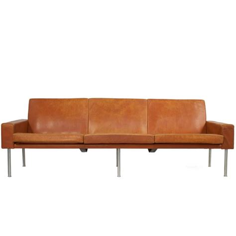 hans wegner sofa leather sofa by hans wegner at 1stdibs
