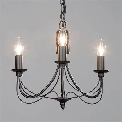 chandelier 3 light litecraft somerset 3 light chandelier in black