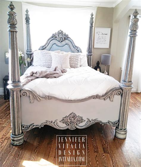 painted bed frames sold poster bed handpainted gray bed frame