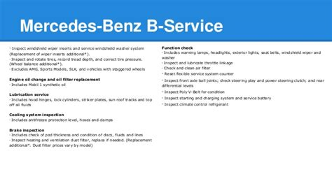 Mercedes A Service by Mercedes A Service And B Service