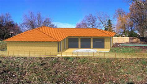 maison en bois en kit mzaol