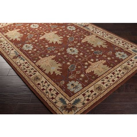 mission style area rugs 3x8 runner arts crafts mission style william morris rust