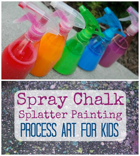 chalk paint process spray chalk splatter painting what can we do with paper